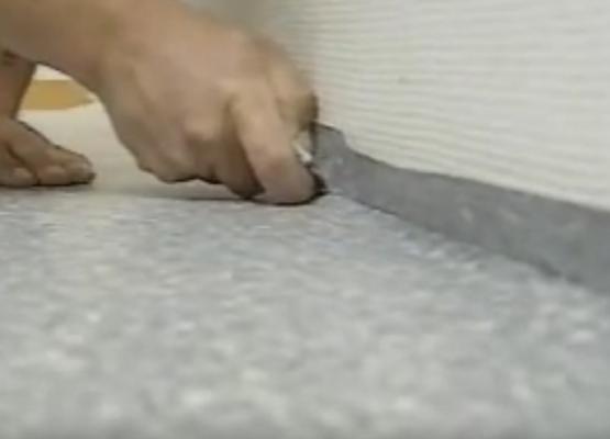 Instalación de pavimento vinílico en rollo